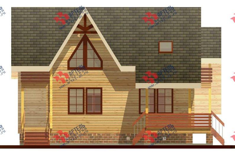 двухэтажный дом из профилированного бруса площадью от 150 до 200 кв. м. с  балконом, террасой, проект Вариант 7.7 А фотография 386