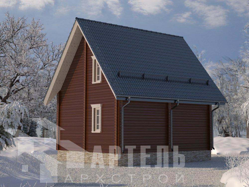 двухэтажный дом из профилированного бруса площадью до 100 кв. м. с  мансардой, проект Вариант 6 Д фотография 6563