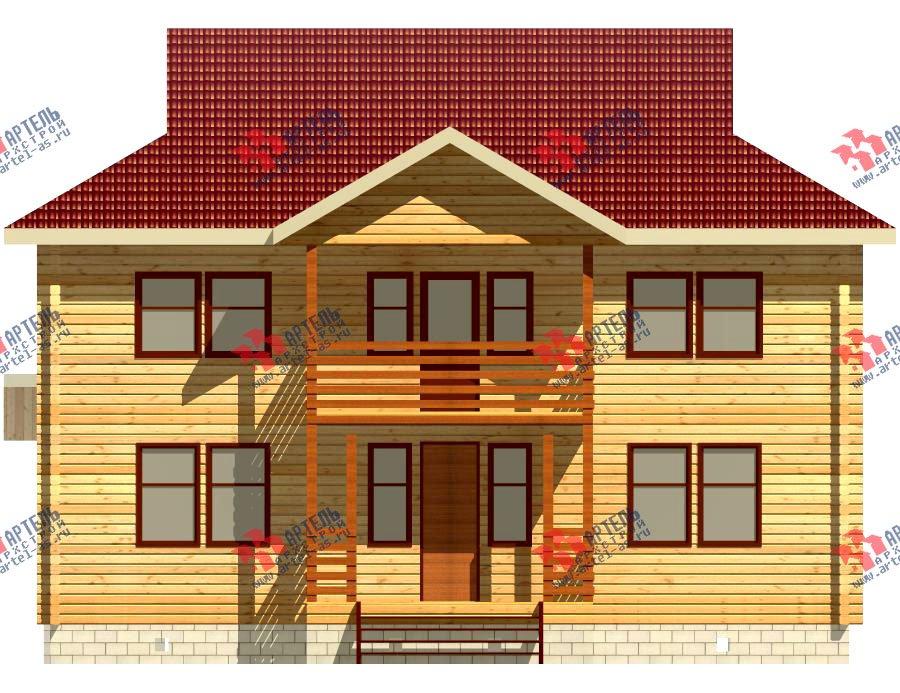 двухэтажный дом из профилированного бруса площадью свыше 200 кв. м. с  балконом, проект Вариант 9 Т фотография 420