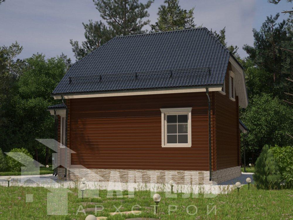 двухэтажный дом из профилированного бруса площадью до 100 кв. м. с  мансардой, эркером, проект Вариант 7 Г фотография 6596