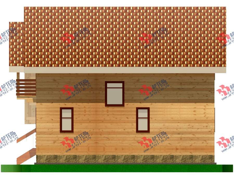 двухэтажный дом из бруса площадью от 100 до 150 кв. м. с  балконом, мансардой, эркером, проект Вариант 6.2 К фотография 760
