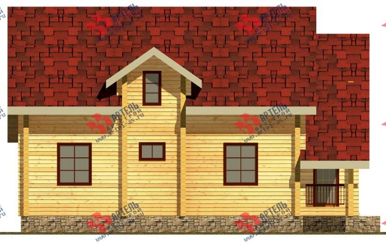 двухэтажный дом из бруса площадью свыше 200 кв. м. с  балконом, мансардой, проект Вариант 9.5 К-2 фотография 103