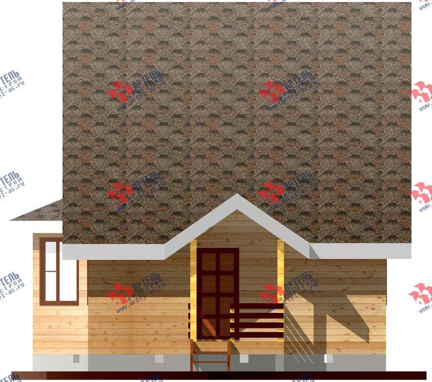 двухэтажный дом из профилированного бруса площадью до 100 кв. м. с  мансардой, эркером, проект Вариант 7 В фотография 801