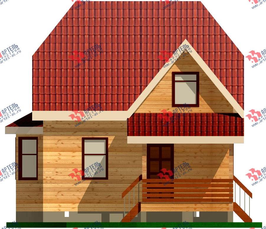 двухэтажный дом из профилированного бруса площадью до 100 кв. м. с  мансардой, эркером, проект Вариант 7 Е-1 фотография 839
