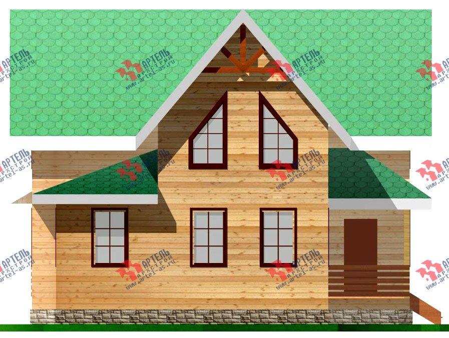 двухэтажный дом из профилированного бруса площадью от 100 до 150 кв. м. с  мансардой, проект Вариант 7.3 Б фотография 928