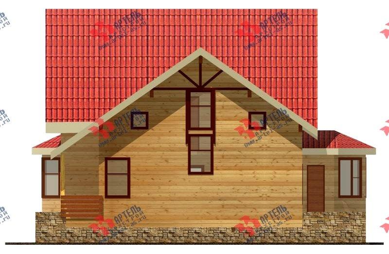 двухэтажный дом из бруса площадью от 100 до 150 кв. м. с  верандой, мансардой, эркером, проект Вариант 8.5 Г фотография 996