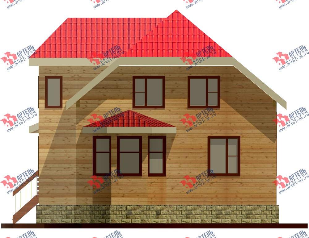 двухэтажный дом из бруса площадью от 100 до 150 кв. м. с  мансардой, террасой, эркером, проект Вариант 8 Д-1 фотография 1016