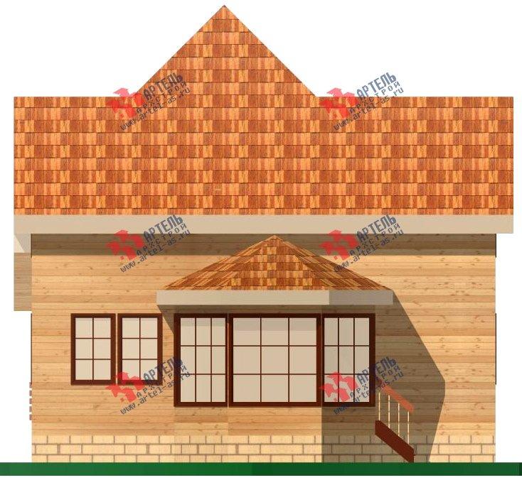 двухэтажный дом из бруса площадью от 150 до 200 кв. м. с  верандой, проект Вариант 8.6 А фотография 1161