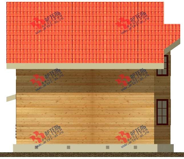двухэтажный дом из бруса площадью от 150 до 200 кв. м. с  мансардой, эркером, проект Вариант 8.4 К фотография 1231
