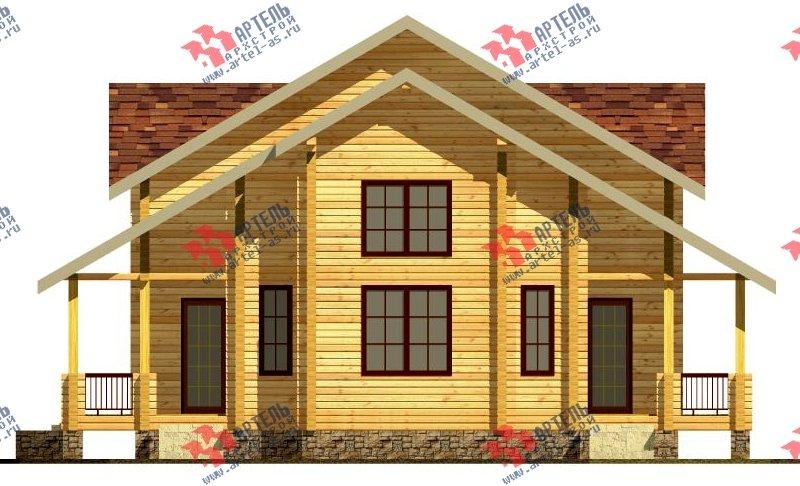 двухэтажный дом из профилированного бруса площадью свыше 200 кв. м. с  мансардой, проект Вариант 10.7 К фотография 114