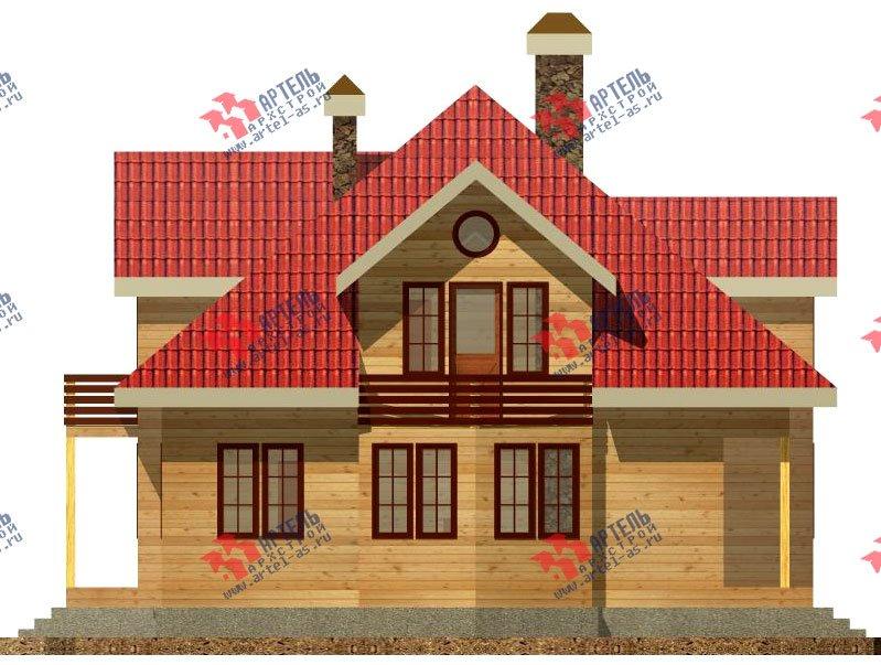 двухэтажный дом из бруса площадью свыше 200 кв. м. с  балконом, гаражом, мансардой, проект Вариант 12.1 А фотография 1414