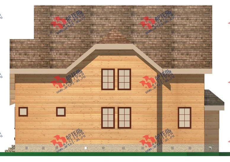 двухэтажный дом из бруса площадью свыше 200 кв. м. с  террасой, эркером, проект Вариант 15.1 А фотография 1497