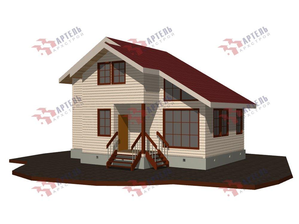 двухэтажный дом из профилированного бруса площадью до 100 кв. м. с  мансардой, проект Вариант 5.6 А фотография 5829