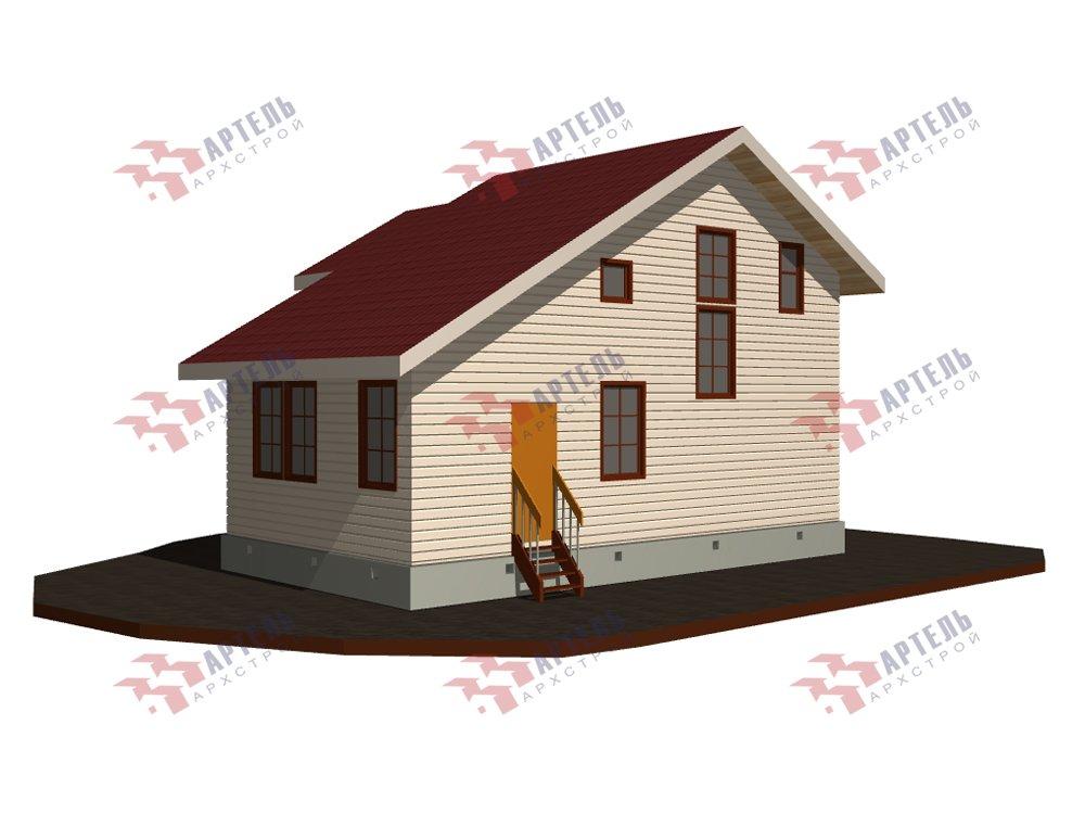 двухэтажный дом из профилированного бруса площадью до 100 кв. м. с  мансардой, проект Вариант 5.6 А фотография 5830