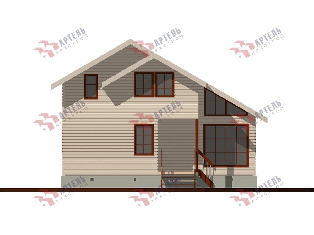 двухэтажный дом из профилированного бруса площадью до 100 кв. м. с  мансардой, проект Вариант 5.6 А фотография 5831