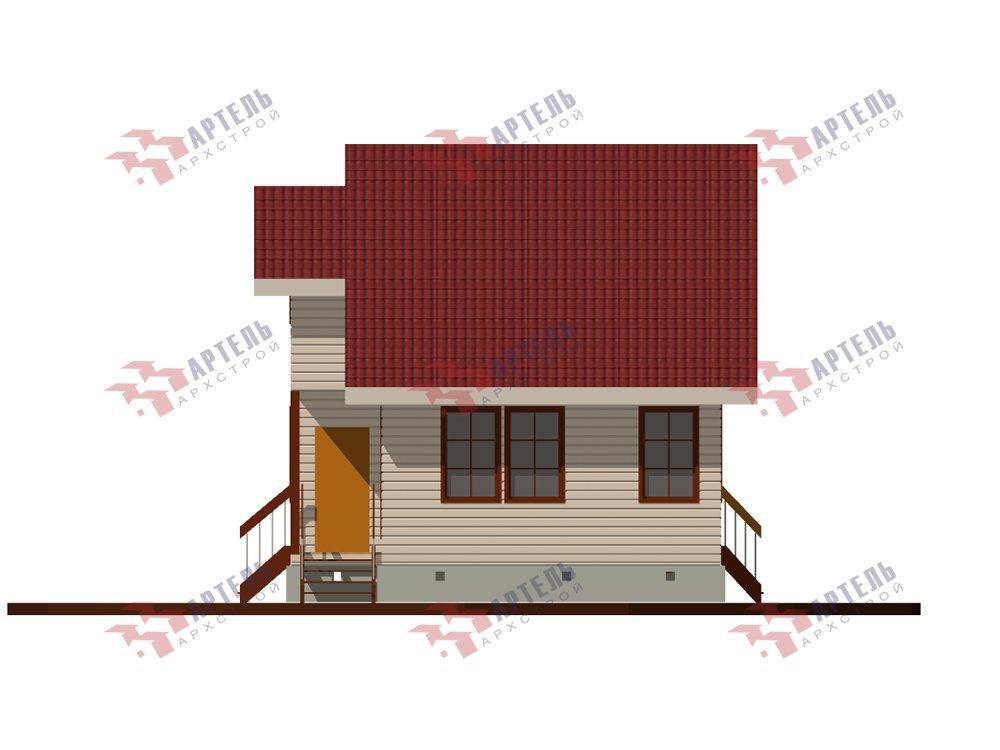 двухэтажный дом из профилированного бруса площадью до 100 кв. м. с  мансардой, проект Вариант 5.6 А фотография 5832