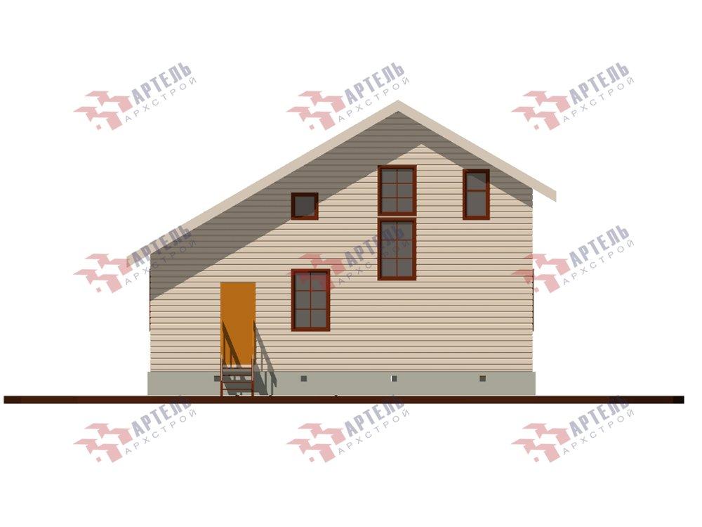 двухэтажный дом из профилированного бруса площадью до 100 кв. м. с  мансардой, проект Вариант 5.6 А фотография 5833