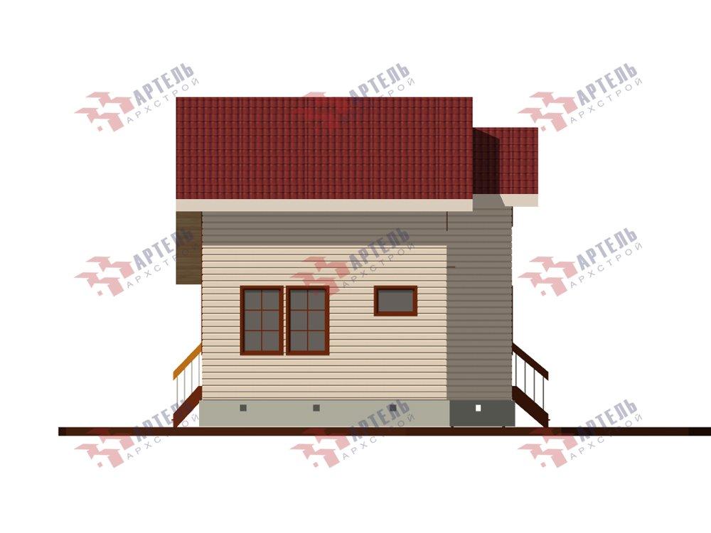 двухэтажный дом из профилированного бруса площадью до 100 кв. м. с  мансардой, проект Вариант 5.6 А фотография 5834