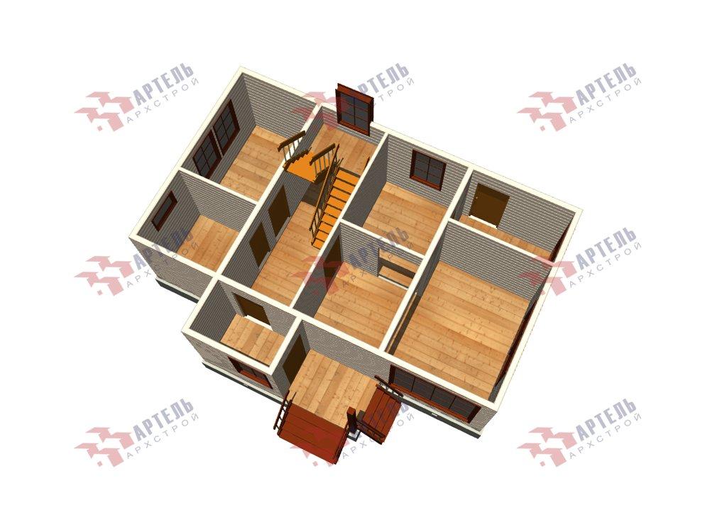 двухэтажный дом из профилированного бруса площадью до 100 кв. м. с  мансардой, проект Вариант 5.6 А фотография 5841