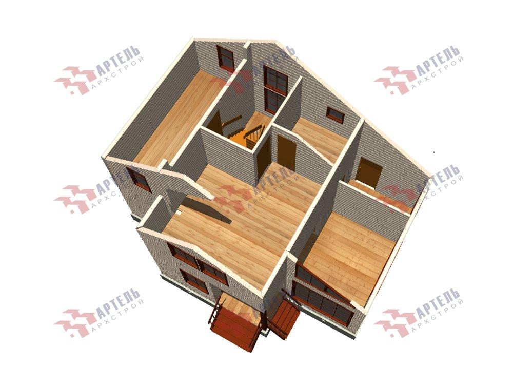 двухэтажный дом из профилированного бруса площадью до 100 кв. м. с  мансардой, проект Вариант 5.6 А фотография 5842