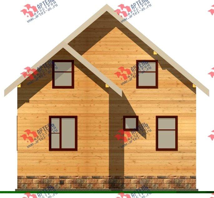двухэтажный дом из бруса площадью от 100 до 150 кв. м. с  мансардой, эркером, проект Вариант 8.2 А фотография 2177