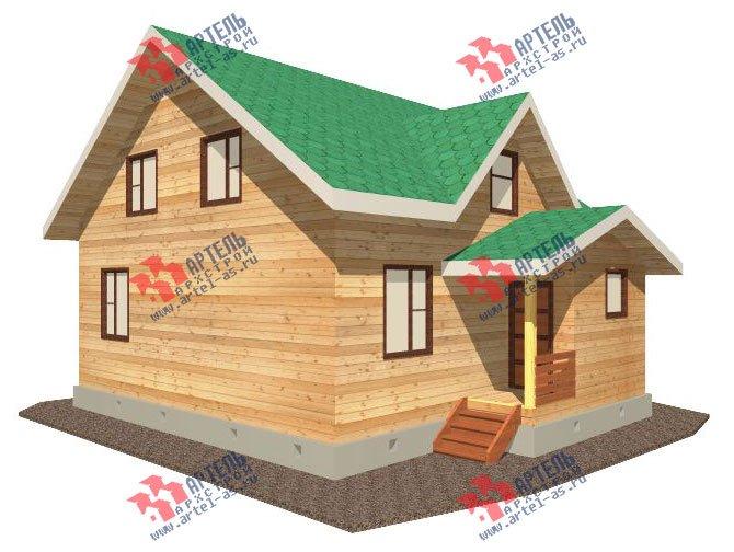 двухэтажный дом из бруса площадью от 100 до 150 кв. м. с  мансардой, проект Вариант 8 А-1 фотография 2187