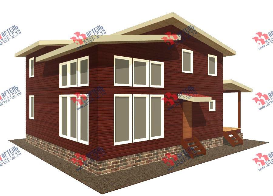 двухэтажный дом из бруса площадью от 150 до 200 кв. м. с  мансардой, проект Вариант 12.2 А фотография 2209