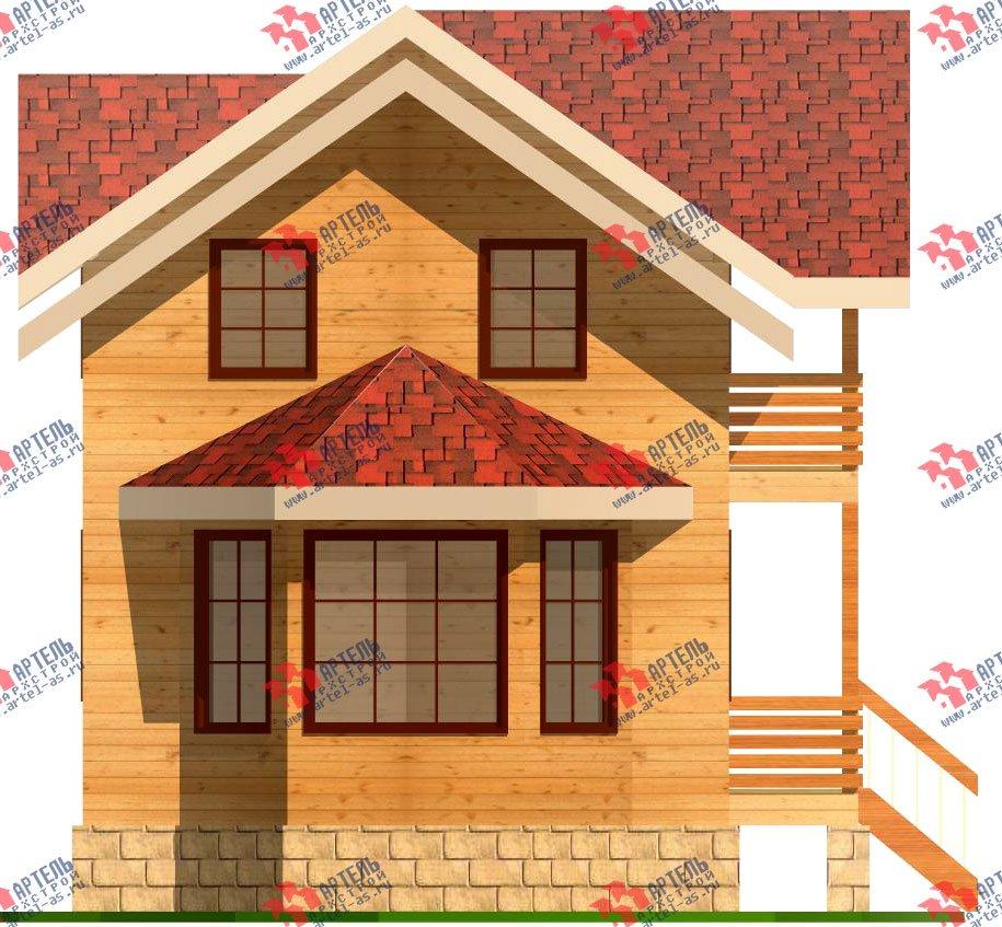 двухэтажный дом из бруса площадью от 150 до 200 кв. м. с  балконом, проект Вариант 6 О-1 фотография 2279