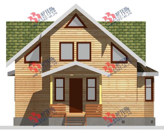 двухэтажный дом из бруса площадью от 150 до 200 кв. м. с  балконом, мансардой, террасой, эркером, проект Вариант 8 К-3 фотография 2465