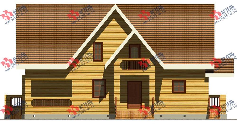 двухэтажный дом из бруса площадью свыше 200 кв. м. с  балконом, террасой, проект Вариант 8 Г-1 фотография 2488