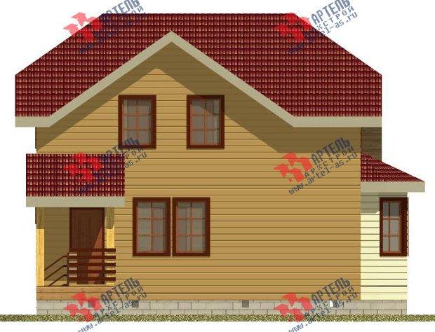 двухэтажный дом из профилированного бруса камерной сушки площадью от 100 до 150 кв. м. с  мансардой, эркером, проект Вариант 2 фотография 2534