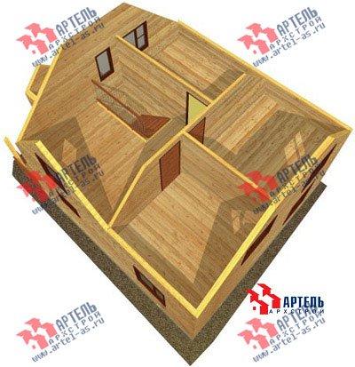 двухэтажный дом из бруса площадью от 100 до 150 кв. м. с  мансардой, проект Вариант 8 В фотография 973