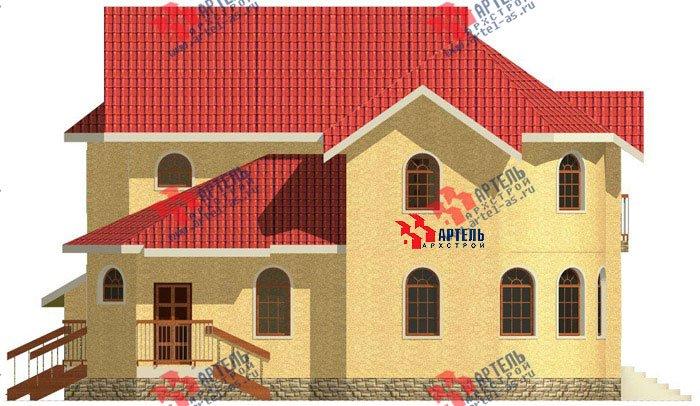 двухэтажный дом из камня площадью свыше 200 кв. м. с  балконом, гаражом, эркером, проект Вариант 6 фотография 499