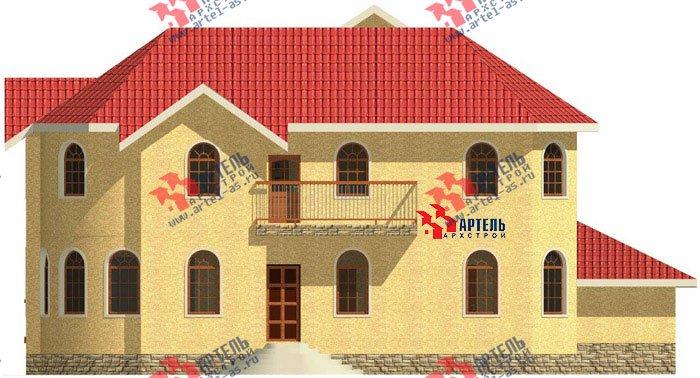 двухэтажный дом из камня площадью свыше 200 кв. м. с  балконом, гаражом, эркером, проект Вариант 6 фотография 500