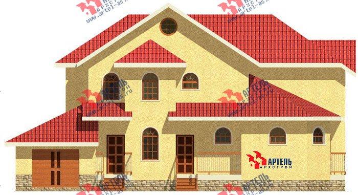 двухэтажный дом из камня площадью свыше 200 кв. м. с  балконом, гаражом, эркером, проект Вариант 6 фотография 502