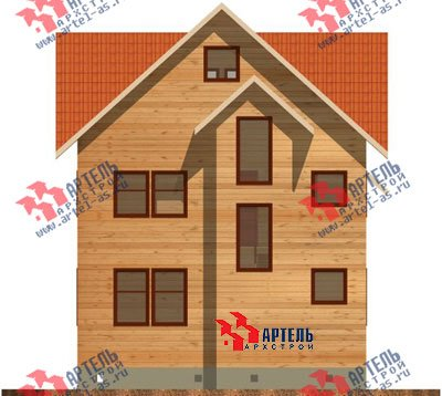 трёхэтажный дом из бруса площадью от 150 до 200 кв. м. с  мансардой, проект Вариант 8 П фотография 1187