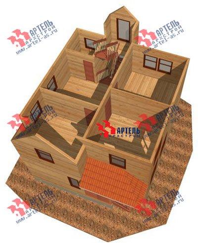 трёхэтажный дом из бруса площадью от 150 до 200 кв. м. с  мансардой, проект Вариант 8 П фотография 1190