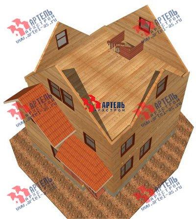 трёхэтажный дом из бруса площадью от 150 до 200 кв. м. с  мансардой, проект Вариант 8 П фотография 1191