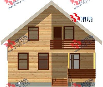 двухэтажный дом из профилированного бруса площадью от 100 до 150 кв. м. с  балконом, мансардой, проект Вариант 8 К фотография 1069