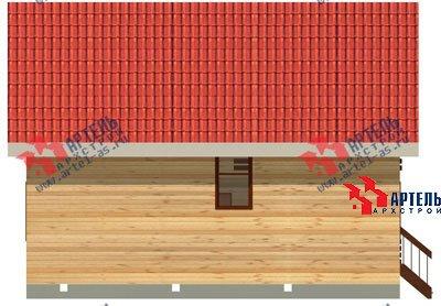 двухэтажный дом из профилированного бруса площадью от 100 до 150 кв. м. с  балконом, мансардой, проект Вариант 8 К фотография 1061