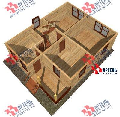 двухэтажный дом из профилированного бруса площадью от 100 до 150 кв. м. с  балконом, мансардой, проект Вариант 8 К фотография 1064