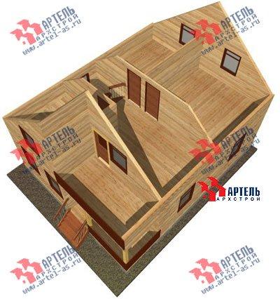 двухэтажный дом из профилированного бруса площадью от 100 до 150 кв. м. с  балконом, мансардой, проект Вариант 8 К фотография 1066
