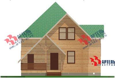 двухэтажный дом из бруса площадью от 150 до 200 кв. м. с  мансардой, террасой, проект Вариант 9.9 А фотография 1219