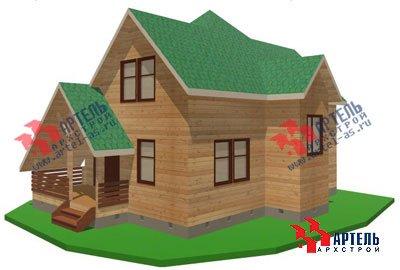 двухэтажный дом из бруса площадью от 150 до 200 кв. м. с  мансардой, террасой, проект Вариант 9.9 А фотография 1218