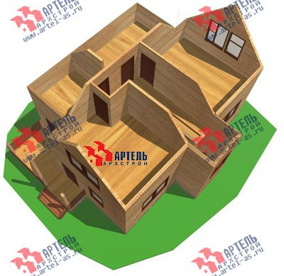двухэтажный дом из бруса площадью от 150 до 200 кв. м. с  мансардой, террасой, проект Вариант 9.9 А фотография 1224