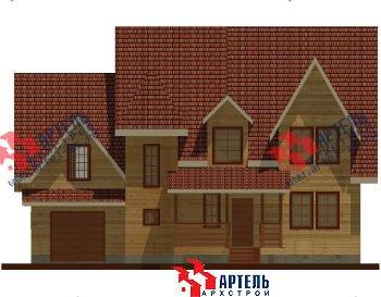 двухэтажный дом из профилированного бруса площадью свыше 200 кв. м. с  гаражом, мансардой, террасой, проект Вариант 10.2 А фотография 1314