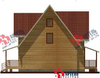 двухэтажный дом из профилированного бруса площадью свыше 200 кв. м. с  гаражом, мансардой, террасой, проект Вариант 10.2 А фотография 1316