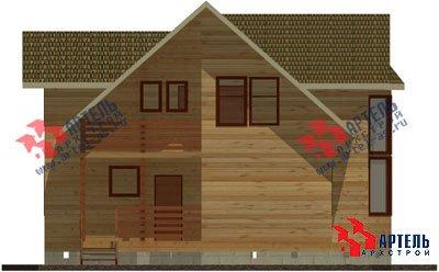 двухэтажный дом из профилированного бруса площадью от 150 до 200 кв. м. с  балконом, мансардой, эркером, проект Вариант 11 И фотография 1433