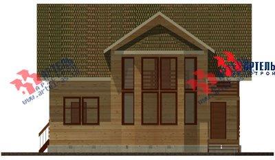 двухэтажный дом из профилированного бруса площадью от 150 до 200 кв. м. с  балконом, мансардой, эркером, проект Вариант 11 И фотография 1434