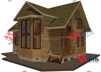двухэтажный дом из профилированного бруса площадью от 150 до 200 кв. м. с  балконом, мансардой, эркером, проект Вариант 11 И фотография 1432